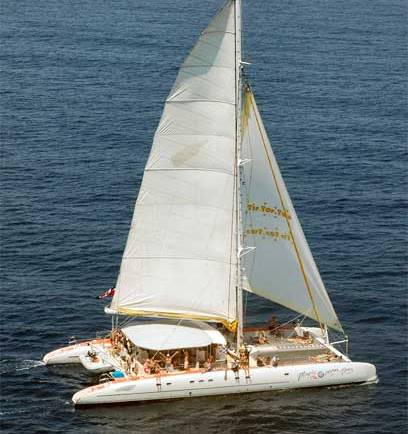 Catamaran Party Boat for 60 persons
